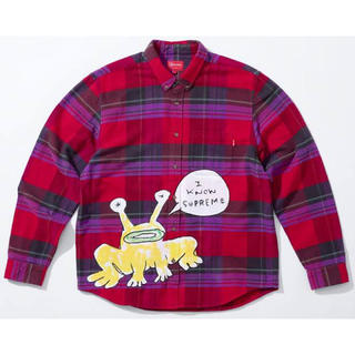 Supreme - Supreme Daniel Johnston Plaid Shirt L