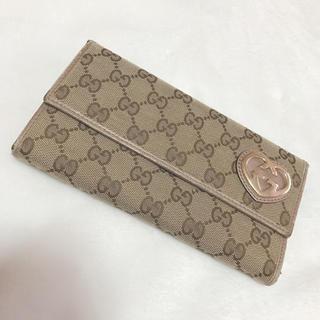 Gucci - GUCCI グッチ 長財布 シャンパンピンク ハートグッチ
