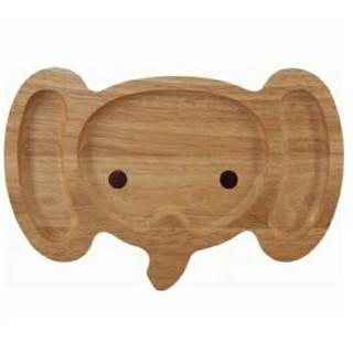 アニマル木製キッズプレート ゾウ(プレート/茶碗)