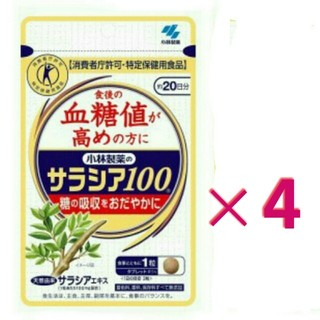 コバヤシセイヤク(小林製薬)のサラシア100 小林製薬  20日分 × 4袋(その他)