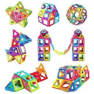 マグネットブロック 知育玩具 【正方形30個 三角形30個】 磁性構築ブロック