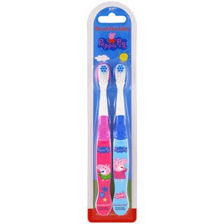 peppa pig 歯ブラシ2本セット(歯ブラシ/デンタルフロス)