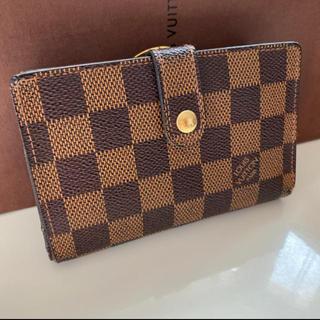 LOUIS VUITTON - 正規品ルイヴィトンがま口 ダミエ折財布