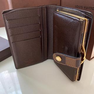 LOUIS VUITTON - 美品 正規品ルイヴィトンダミエ がま口 折財布