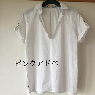 ピンクアドべ(PINK ADOBE)のピンクアドベ コットン スキッパー (シャツ/ブラウス(半袖/袖なし))