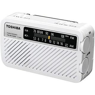 TOSHIBA 防災手回し 充電 ラジオ ホワイト TY-JKR5-W 東芝(防災関連グッズ)