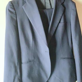 アオキ(AOKI)のパンツスーツ 上下 紺色 AOKI(セットアップ)