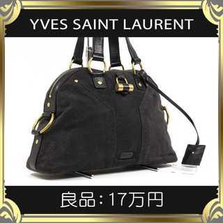 Saint Laurent - 【真贋査定済・送料無料】イヴサンローランのハンドバッグ・良品・本物・ミューズ