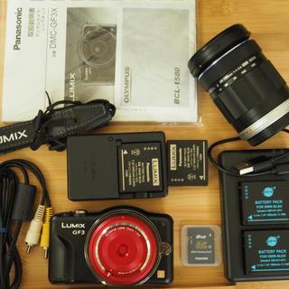 パナソニック(Panasonic)のDMC−GF3+40-150mm+キャップレンズ(ミラーレス一眼)