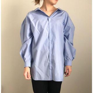 エンフォルド(ENFOLD)のENFOLD クラスターストライプ バックオープンシャツ(シャツ/ブラウス(長袖/七分))