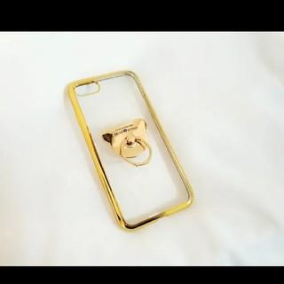 送料無料 iPhoneケース!くまリング プレセント 人気 可愛い