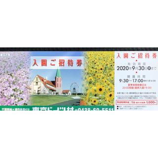 東京ドイツ村 入園ご招待券(遊園地/テーマパーク)