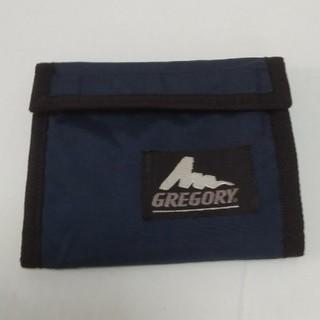 グレゴリー(Gregory)の旧ロゴ‼️GREGORY2つ折りウォーレット ネイビー(折り財布)