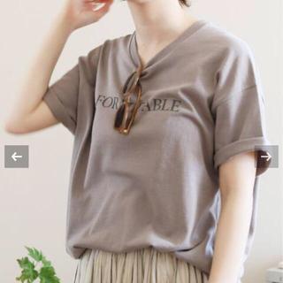 IENA - IENA FORMIDABLEロゴプリントTシャツ  グレーA