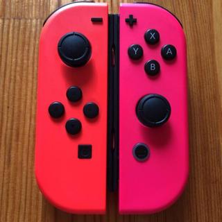 Nintendo Switch - Switch ジョイコン ネオンレッド×ネオンピンク