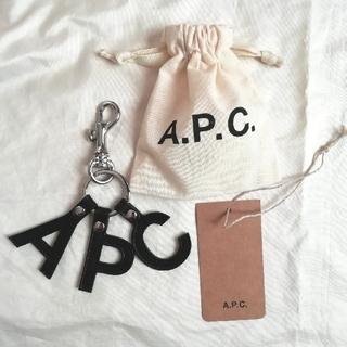 アーペーセー(A.P.C)のAPC Lettres キーリング  ロゴキーリング LogoブラックA.P.C(キーホルダー)