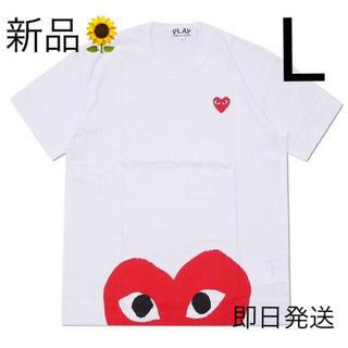 COMME des GARCONS - 入手困難 Lサイズ プレイコムデギャルソン Tシャツ 国内正規品 ホワイト