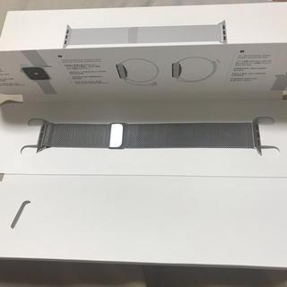 Applewatch純正ミラネーゼループ シルバー