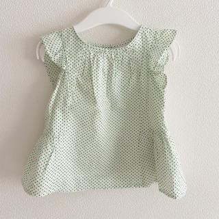 ベビーギャップ(babyGAP)のgap ベビー 80 半袖 フラッタースリーブ 女の子(Tシャツ)