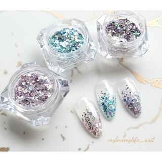 jewelry♡ホログラムグリッター 3色set