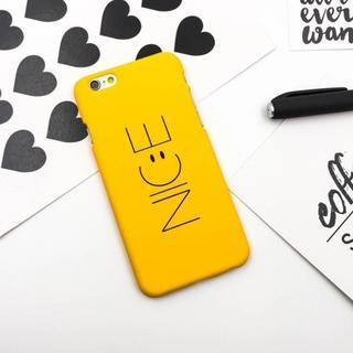 イエロー iPhone6 iPhone6s ニコちゃん NICE ケース