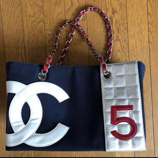 CHANEL - CHANEL デカココマーク No5 チェーン トートバッグ
