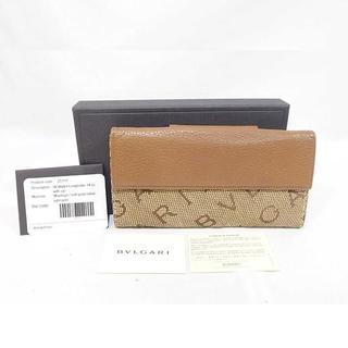 ブルガリ(BVLGARI)のブルガリ キャンバス/レザー 長財布 正規品 (N00184)(財布)