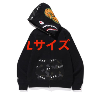 アベイシングエイプ(A BATHING APE)のBAPE X GOD SELECTION XXX SHARK ZIPHOODIE(パーカー)
