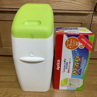 アップリカ(Aprica)の新品未使用✩Apricaにおわなくてポイ(専用カセット6パック付)(紙おむつ用ゴミ箱)