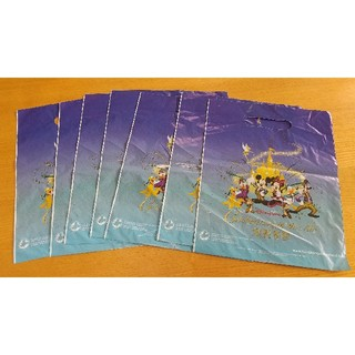 ディズニー(Disney)の香港ディズニーランド ショップ袋お土産袋7枚セット(ショップ袋)