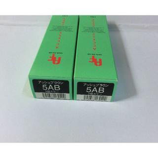 ナプラ(NAPUR)の未使用!ナプラ HBハーブカラー 5AB アッシュブラウン 白髪染め 2本(カラーリング剤)