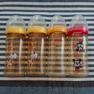 ピジョン(Pigeon)のピジョン Pigeon 哺乳瓶 プラスチック 240ml 4本セット 母乳実感(哺乳ビン)