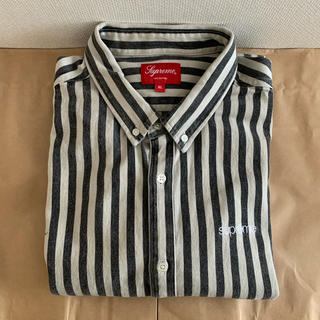 Supreme - 19fw 美品 黒 XL supreme stripe denim shirt