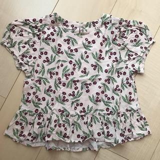 プティマイン(petit main)のpetit main チェリー総柄プルオーバー 100㎝(Tシャツ/カットソー)