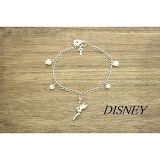 ディズニー(Disney)の【U160】Disney ディズニー ティンカーベル ハート ブレスレット(ブレスレット/バングル)