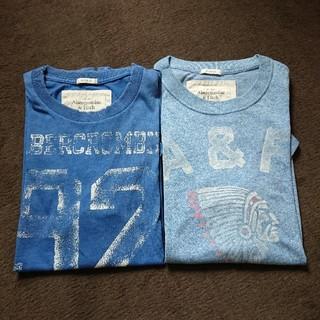 アバクロンビーアンドフィッチ(Abercrombie&Fitch)のAbercrombie&Fitch  TシャツM ブルー2枚(Tシャツ/カットソー(半袖/袖なし))