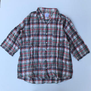 グッドイナフ(GOODENOUGH)のGOODENOUGH7分袖チェックシャツ Lサイズ(シャツ)
