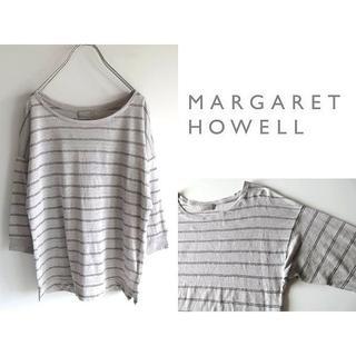 マーガレットハウエル(MARGARET HOWELL)のマーガレットハウエル ボーダー リネンニット サマーセーター 2 ゆったり(ニット/セーター)
