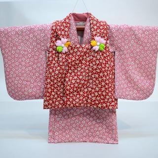 一つ身 二部式被布セット 日本製 ベビー 女児用 ちりめん風合い NO28995(和服/着物)