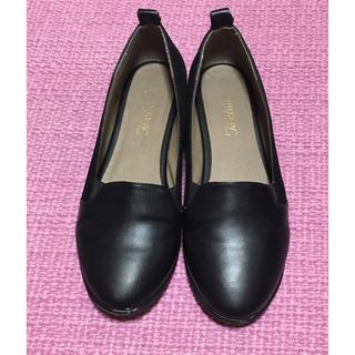 テチチ(Techichi)の【3〜4回使用】テチチ ブラック シューズ 38(ローファー/革靴)