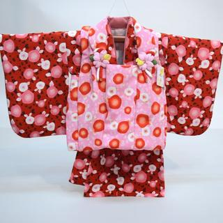 一つ身 二部式被布セット 日本製 ベビー 女児用 ちりめん風合い NO28988(和服/着物)
