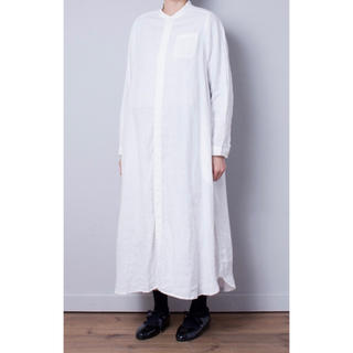 nest Robe - 【美品/定番品】リネンバンドシャツカラーワンピース