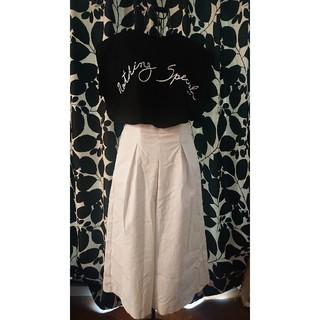 ザラ(ZARA)の新品★ZARA★白★スカートパンツ★M~Lサイズ(キュロット)