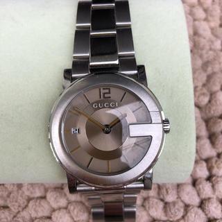 グッチ(Gucci)のグッチ101jシルバー腕時計ブラウン(腕時計(アナログ))