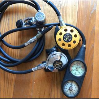 アクアラング(Aqua Lung)のダイビング レギュレータ オクトパス ゲージ エアガン(マリン/スイミング)