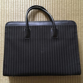 アオキ(AOKI)の【中古品】ビジネスバッグ*ストライプ柄(ビジネスバッグ)