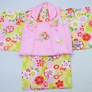 一つ身 二部式被布セット ベビー用 女児用 ポリエステル100% NO24148(和服/着物)