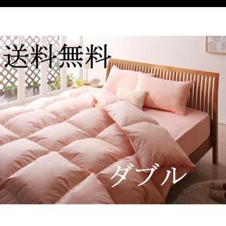 布団セット ダブル 即決/送料無料 10点セット ベッドタイプ さくら(布団)