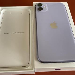 美品 iphone11 64gb simフリー パープル apple store