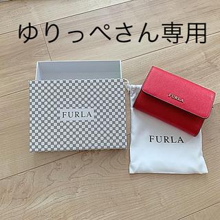 フルラ(Furla)の【美品】FURLA ミニ財布(レッド)(財布)